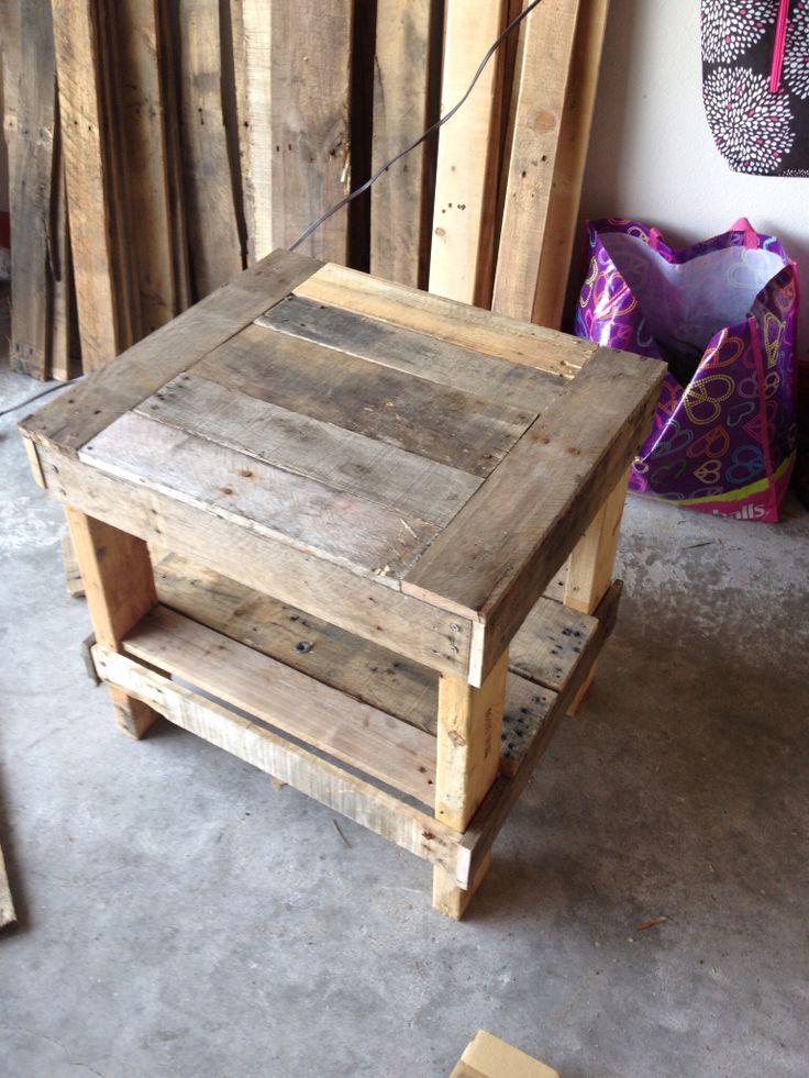 Pallet end table design for our home pinterest