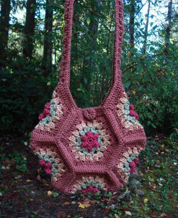 Crochet Pattern PDF - ?Posy Patch? Bag - PA-207...PATTERN $2 ...
