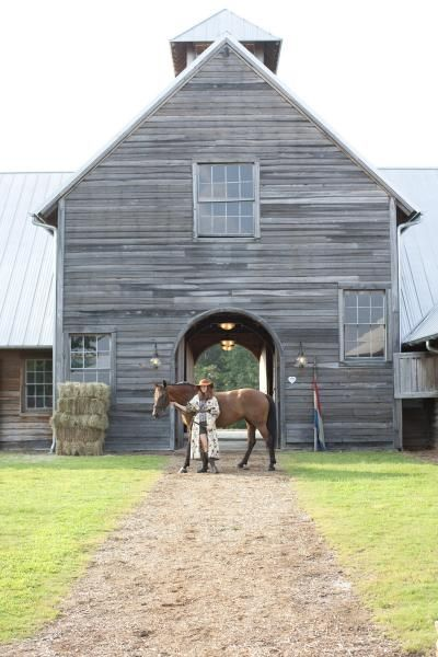 Beautiful gray barn