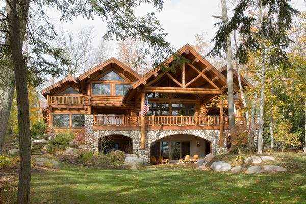 Beautiful wood and stone house home ideas pinterest - Wooden dream houses ...