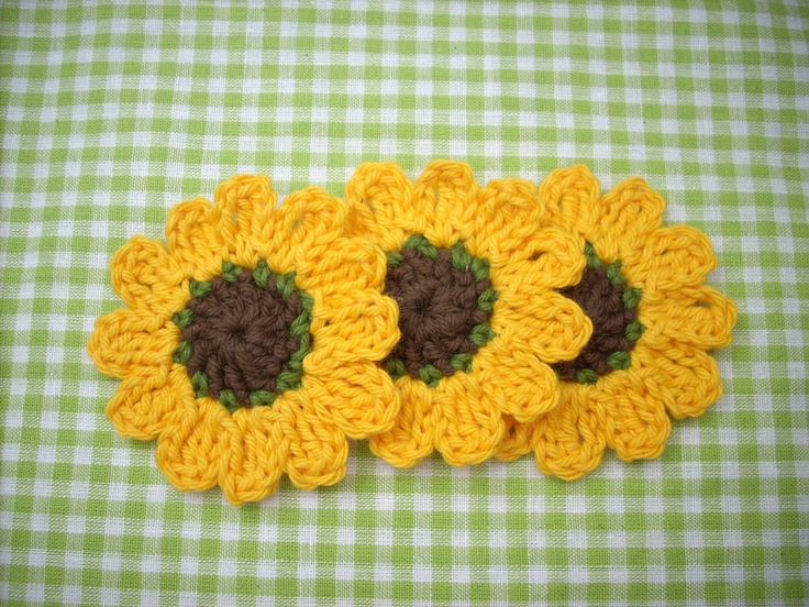 Sunflowers Amigurumi Crochet Pattern Plant : crochet flower crocheted sunflower autumn scrapbook card ...