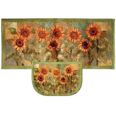 Mohawk Home Sunflower Kitchen Rug Sunflower