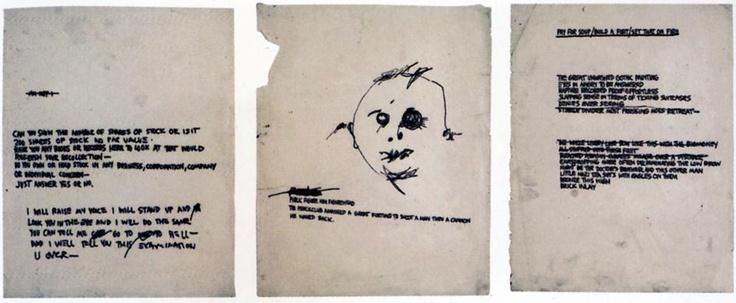 1980 J.M. Basquiat Sans Titre (Series of Poems) encre sur papier 28 ...
