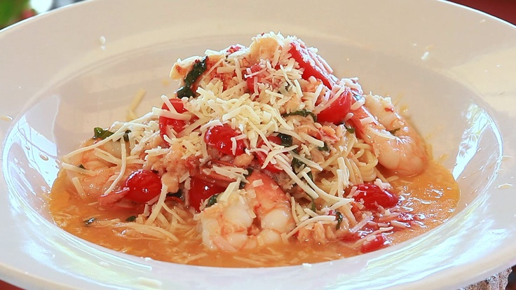 Angel Hair With Shrimp And Tomato Sauce Recipe — Dishmaps