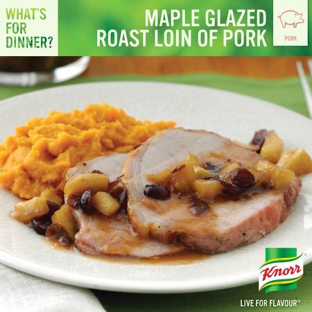 Maple Glazed Roast Loin of Pork | Recipes to try | Pinterest