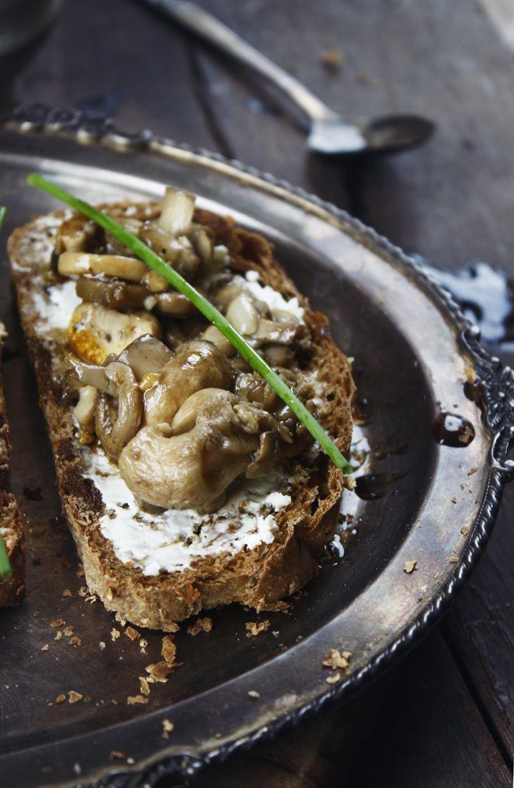 mushroom crostini | Appetizers and Snacks | Pinterest
