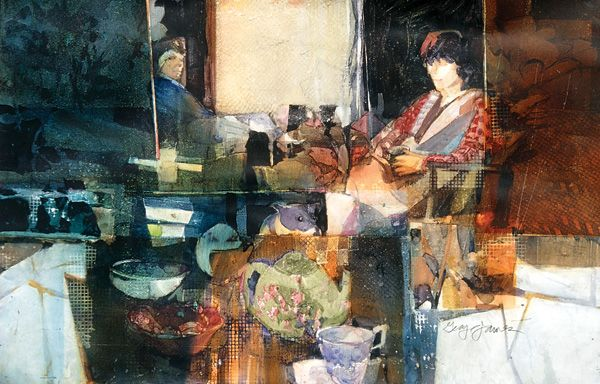 Sunday Morning Nougat  2003, watercolor on Yupo, 26 x 36.  All artwork this article collection  the artist unless otherwise indicated.