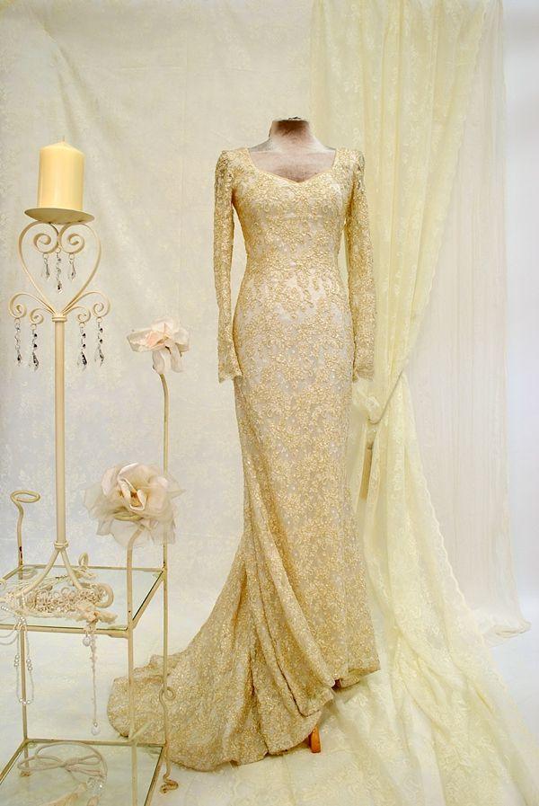 Gold Gold Wedding Dresses For Sale Uk