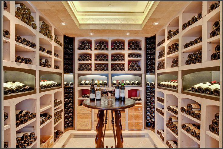 Walk In Wine Closet With Skylights High End Wine Cellar