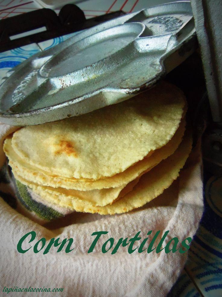Fresh Corn Tortillas~Tortillas de Maiz Hechas con Masa Harina