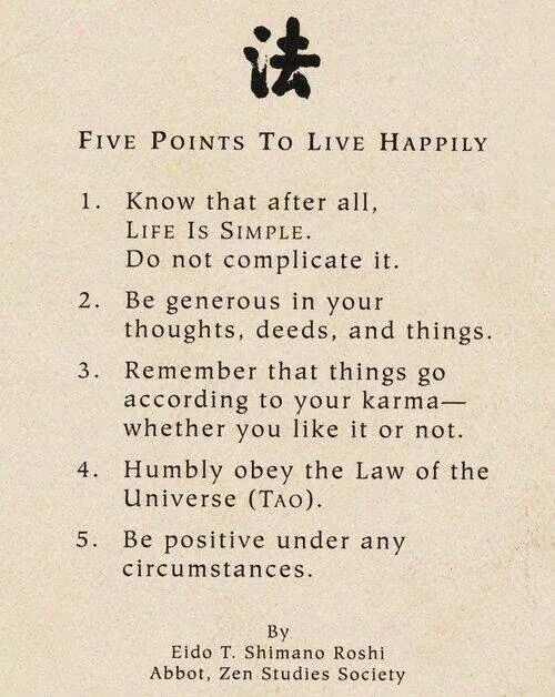 how to live a happy life pdf