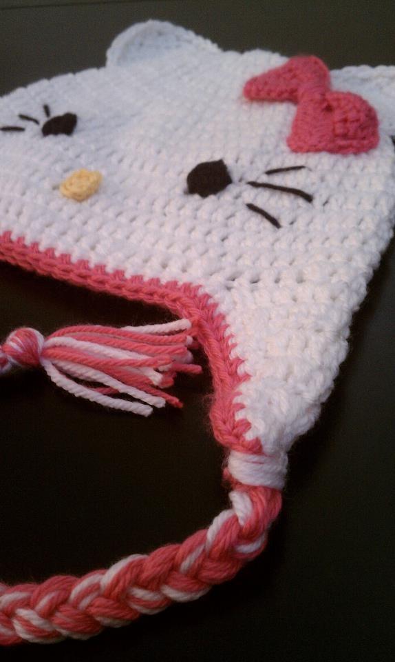 Crochet Kitty Hat : Crochet Hello Kitty Hat I will learn to crochet! Pinterest