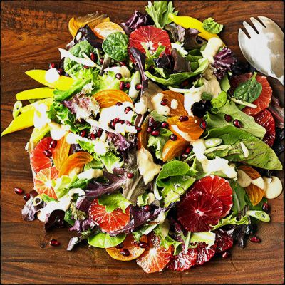 ... and Pomegranate Salad with Blood Oranges - easy and beautiful