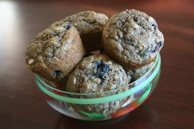 ... bran, blueberries, bananas...what's not to love in these muffins
