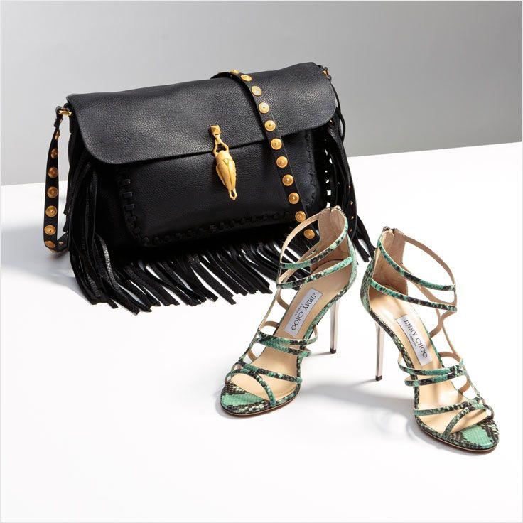 Jimmy Choo Glossy Snakeskin Sandal
