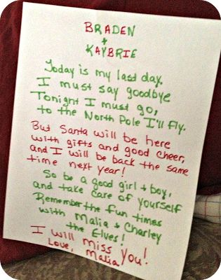 Elf Goodbye Letter Template | Search Results | Calendar 2015