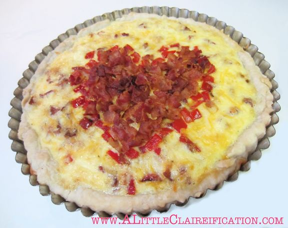 Red Pepper & Bacon Tart with ALittleClaireification.com #redpeppertart ...