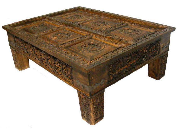 wohnzimmertisch antik:130×83 cm antik-look Wohnzimmertisch orient Teetisch Tisch Couchtisch