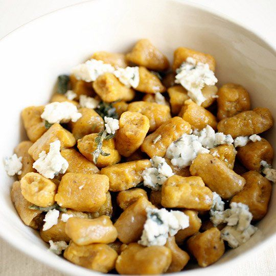 Pumpkin gnocchi with blue cheese and sage via The Kitchin