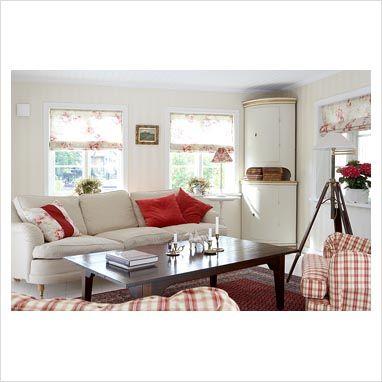 Red and white living room mi casa pinterest