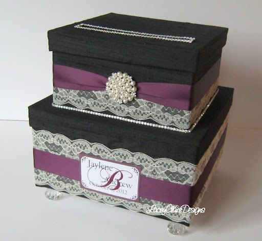 Wedding Card Box Envelope Card Holder Reception Card Box Vintage Card