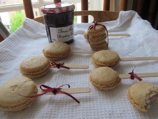 A Bouquet Of Raspberry Mascarpone Macarons Recipe — Dishmaps