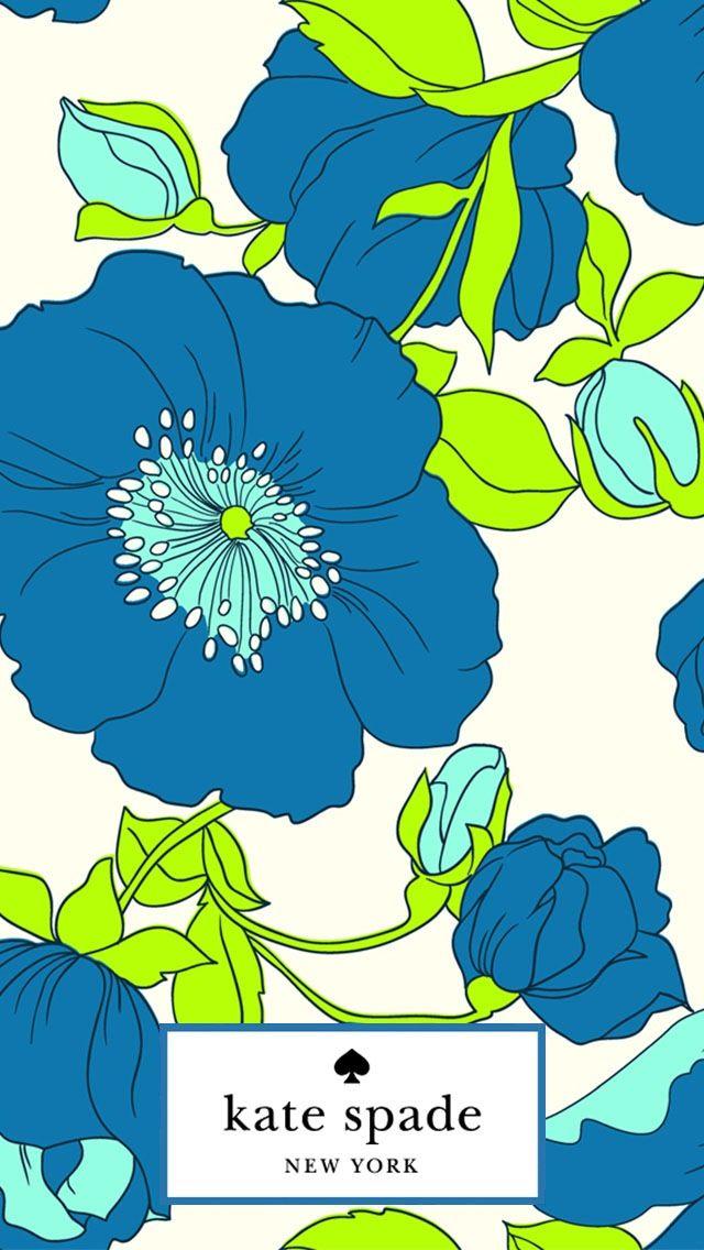 blue floral kate spade iphone wallpaper phone