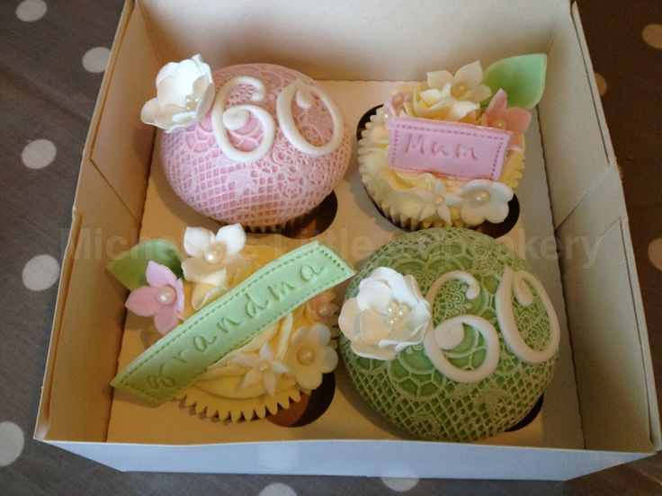 Cupcake Decorating Ideas For 60th Birthday : 60th birthday cupcakes Birthday Ideas Pinterest
