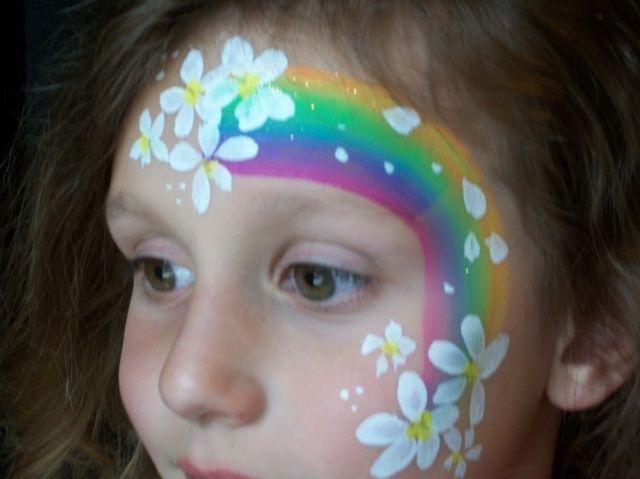 Pin Rainbow Face Painting Dinosaur Hello Kitty Paiting on ...