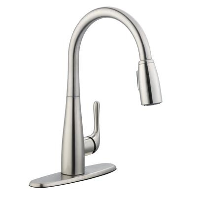 glacier bay 900 series pulldown kitchen faucet in