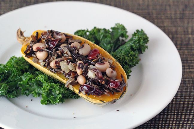Stuffed Delicata Squash | Vegan Food & Drink | Pinterest