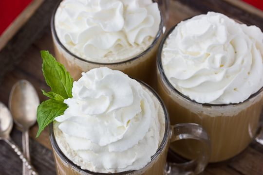 peppermint coffee toddy: coffee, peppermint schnapps, creme de cacao ...