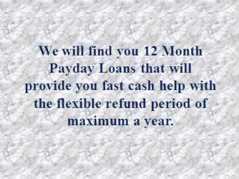 Features of the 12-month loan
