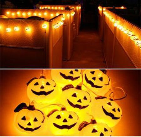 Decorated Cubicles with jack o lanterns :) #decoratedcubicles