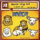This free clip art set from Charlotte's Clips features a lion and lamb, a lions face, a lambs face and a March Banner. It is good for Spring themes such as March comes in like a lion and out like a lamb.