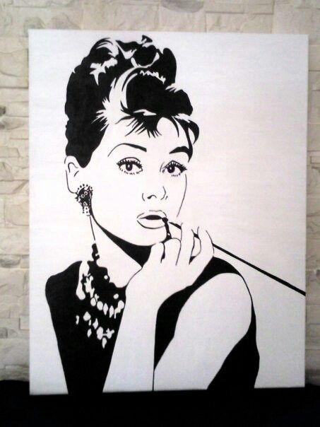 Pop art acrilico blanco y negro cuadros hechos por mi - Cuadro blanco y negro ...