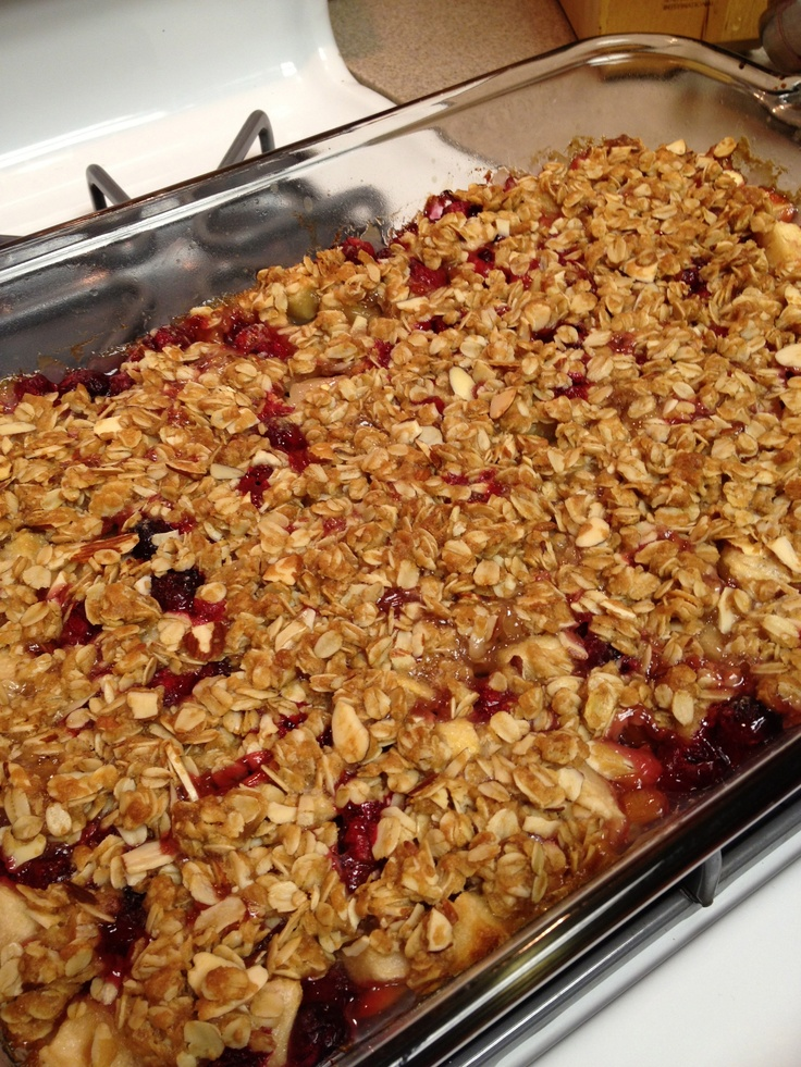 Apple Cranberry Crumble | By: Me | Pinterest