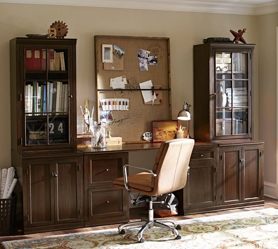 logan small office suite pottery barn home sweet home pinterest