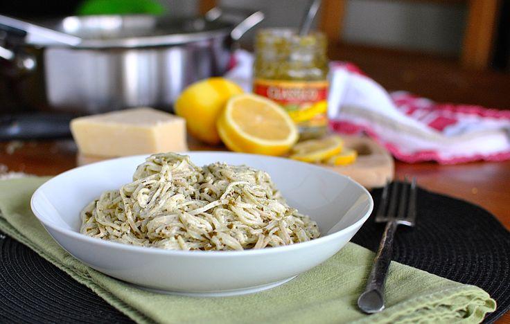 Creamy Pesto Lemon Pasta from @How Crazy Cooks