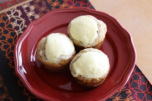Banana Cream Cheese Muffins   Recipes: Breads/ Sweet; Breakfast, Muff ...