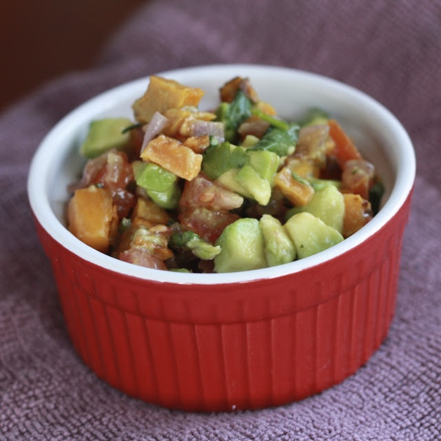 roasted sweet potato salsa   salsa   Pinterest