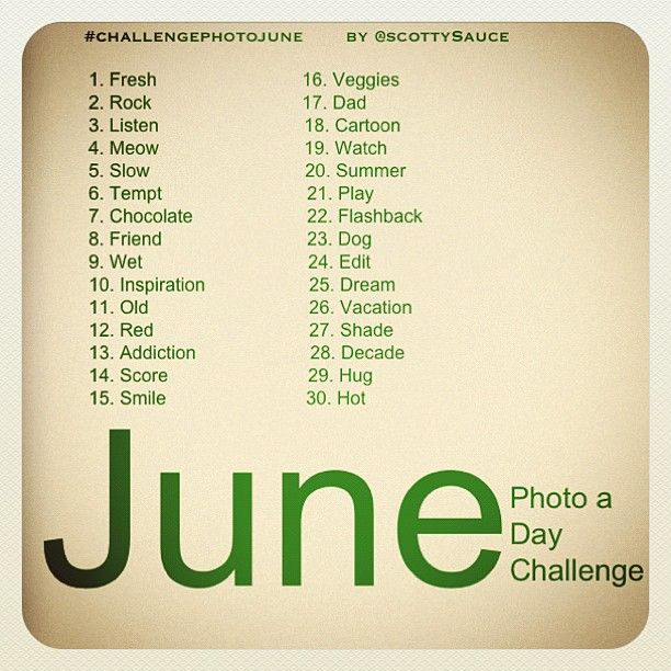 instagram june photo challenge yay photography