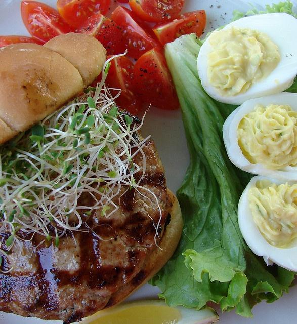 Tuna Burgers & wasabi deviled eggs | Wasabai | Pinterest