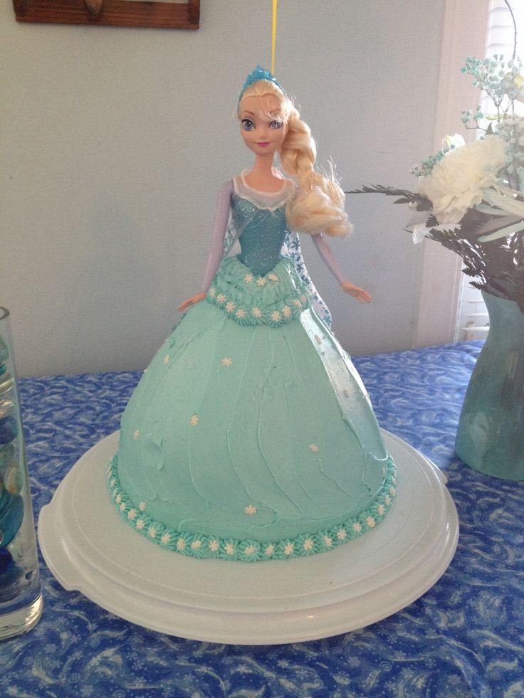 Frozen Barbie Cake Design : Doll Cake Frozen Party Invitations Ideas