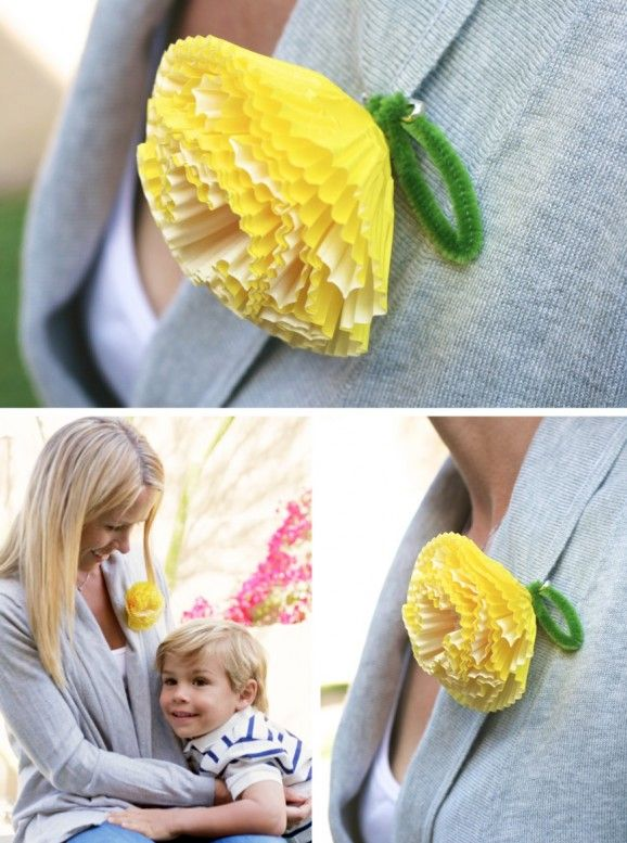 corsage out of cupcake liners--cute!