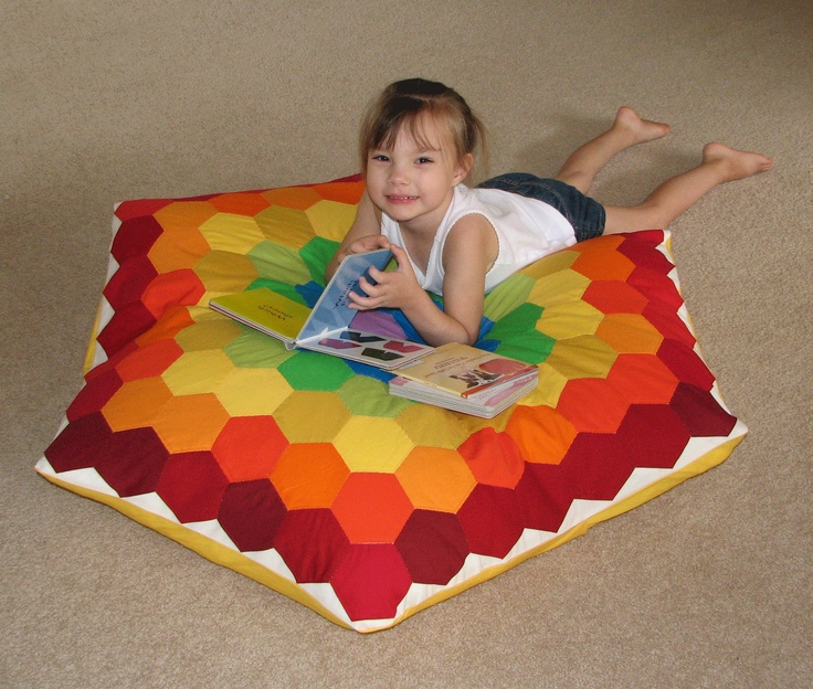 Giant Floor Pillow  Sew...A Needle Pulling Thread  Pinterest