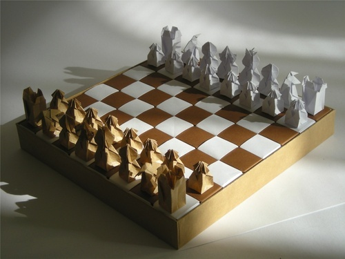 Ldiy Origami Chess Set Crafty Things Pinterest
