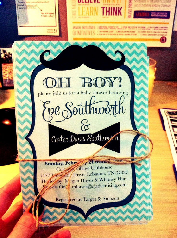 mustache baby shower invitations baby shower ideas pinterest