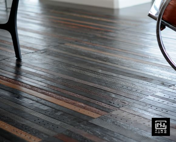 """leather belt floor tiles... i saw this on Imgur with the comment """"Pinterest is leaking again.""""  lulz"""