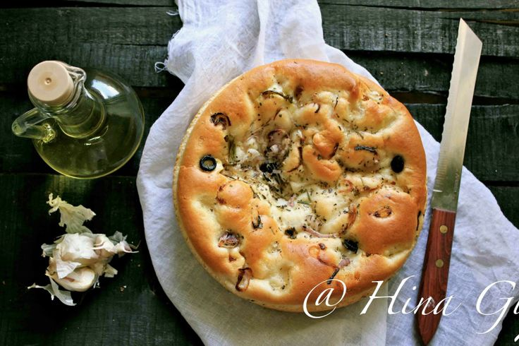 Fun, Food and Frolic: Roasted Onion, Garlic and Rosemary Focaccia
